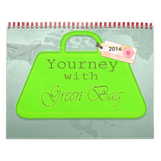 yourney with green bag- calendar