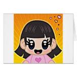 yourri girl pink greeting card