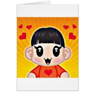 yourri hearts greeting card