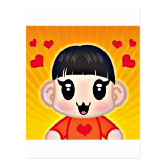 yourri hearts postcard