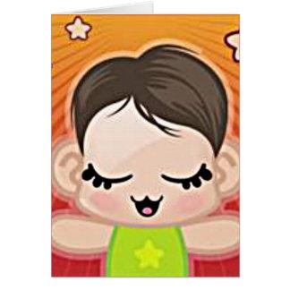 yourri lil green peep greeting card