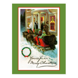 Yours For a Merry Christmas Post Card