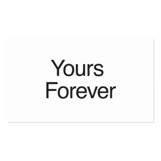 Yours ForEver Business Card Template