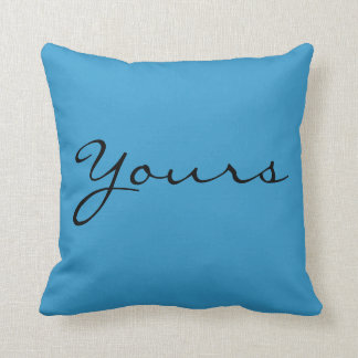 yours (my pillow) not yours throw pillow