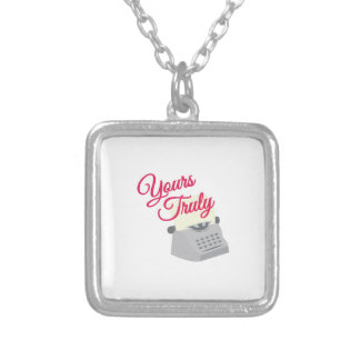 Yours Truly Square Pendant Necklace