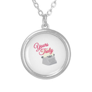 Yours Truly Round Pendant Necklace