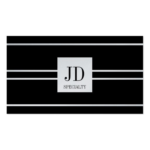 YourSpecialty Black Striped Pendant Platinum Paper Business Card Template