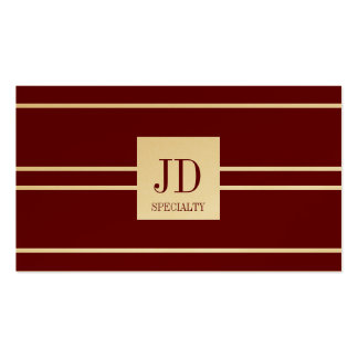 YourSpecialty Dark Cherry Stripe Pendant GoldPaper Double-Sided Standard Business Cards (Pack Of 100)