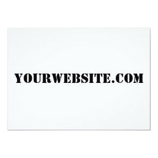 YourWebSite.com 5x7 Paper Invitation Card