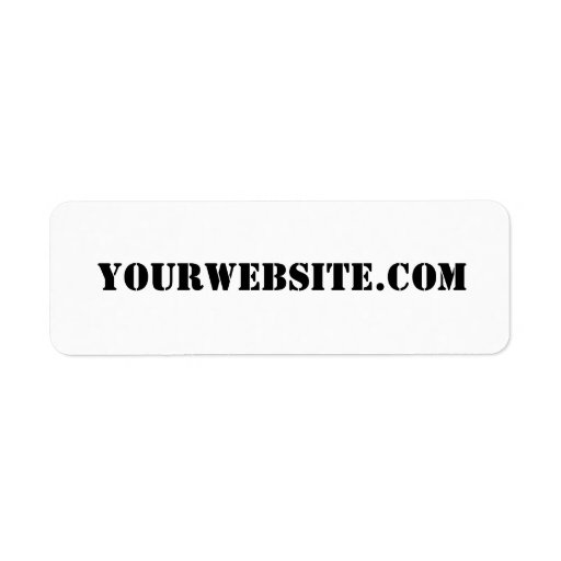 YourWebSite.com Return Address Label