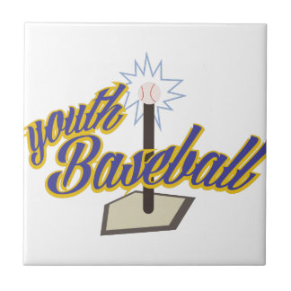 Youth Baseball Small Square Tile