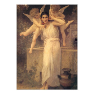 Youth by Bouguereau Vintage Angels Victorian Art Custom Announcement
