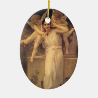 Youth by Bouguereau Vintage Angels Victorian Art Christmas Ornament