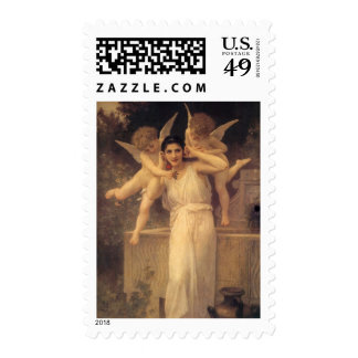 Youth by Bouguereau, Vintage Angels, Victorian Art Stamps