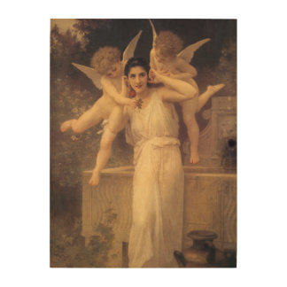 Youth by Bouguereau, Vintage Angels, Victorian Art Wood Print