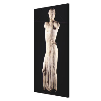 Youth clad in tight long-fitting tunic, 5th centur canvas print
