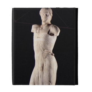 Youth clad in tight long-fitting tunic, 5th centur iPad folio cover