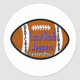 Youth Football Alliance Central Dekalb Jaguars Whi Classic Round Sticker