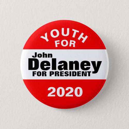 Youth for John Delaney Button