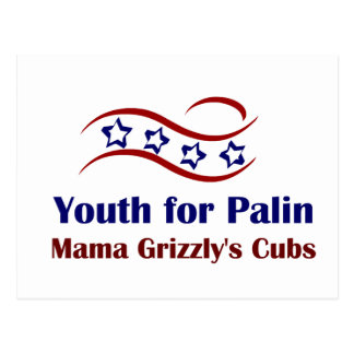 Youth for Palin Products Postcard