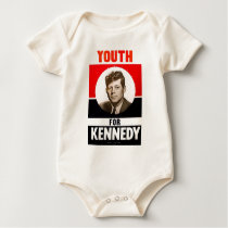 Youth for President John F. Kennedy Baby Bodysuit
