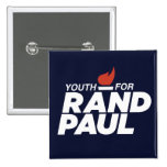 Youth for Rand Paul Square Campaign Button 2 Inch Square Button