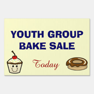 YOUTH GROUP BAKE SALE SIGN