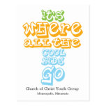 Youth Group Church Chrisitan Postcard Card Invite