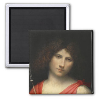 Youth holding an Arrow, 1505 2 Inch Square Magnet