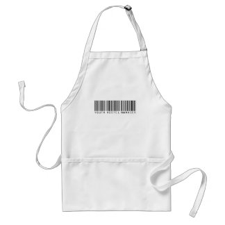 Youth Hostel Manager Bar Code Adult Apron