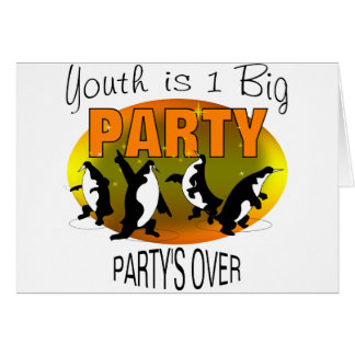 Youth Is 1 Big Party Greeting Card