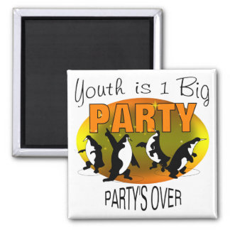 Youth Is 1 Big Party Fridge Magnet