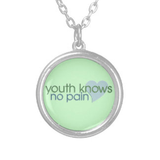 Youth Knows No Pain Round Pendant Necklace