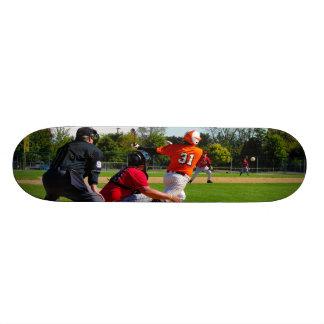 Youth League Baseball Batter Hitting Ball Skateboard