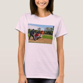 Youth League Baseball Batter Hitting Ball T-Shirt