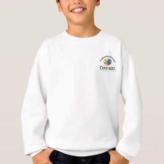 Youth long-sleeve sweatshirt with top left logo