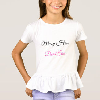 Youth, Messy Hair Don't Care Don't Stare T-Shirt