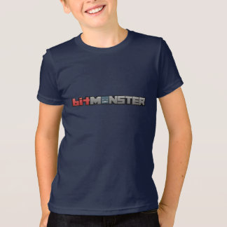 Youth Navy Blue BitMonster Logo T-Shirt
