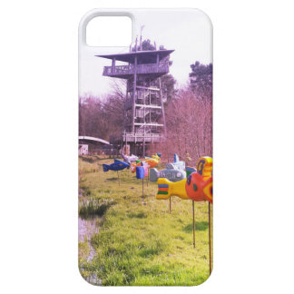 youth park wooden tower and flying wooden fishes iPhone SE/5/5s case