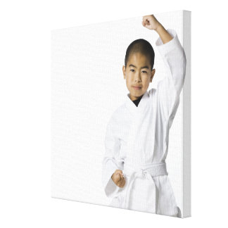 youth practicing martial arts 3 canvas print