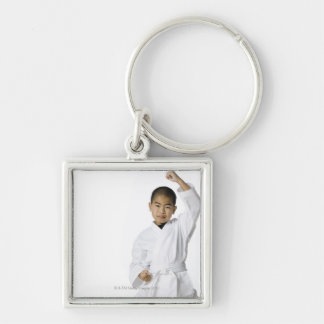 youth practicing martial arts 3 keychain
