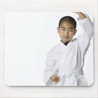 youth practicing martial arts 3 mouse pad