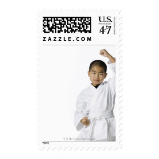 youth practicing martial arts 3 postage