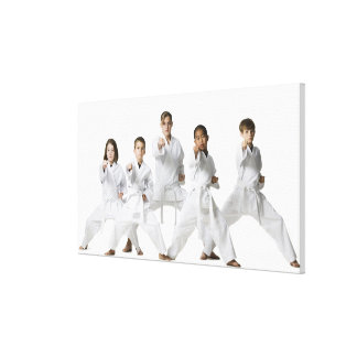 youth practicing martial arts 4 canvas print