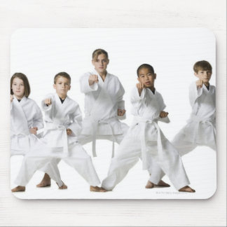 youth practicing martial arts 4 mouse pad
