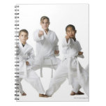 youth practicing martial arts 4 notebook