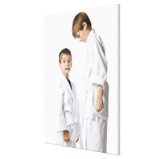 youth practicing martial arts canvas print