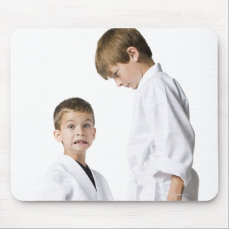 youth practicing martial arts mouse pad