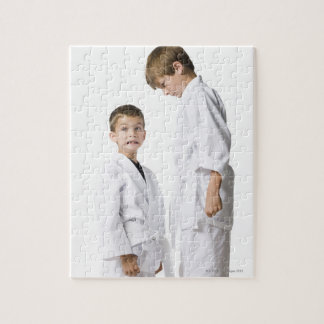 youth practicing martial arts jigsaw puzzle