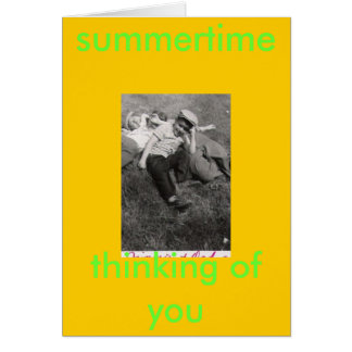 YOUTH REVISITED, summertime, thinking of you Greeting Card